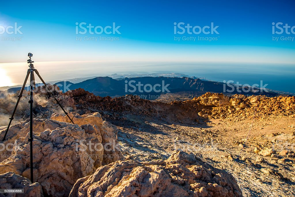 Crater of volcano Tide stock photo