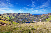 Crater Rano Kau Volcano Easter Island Chile