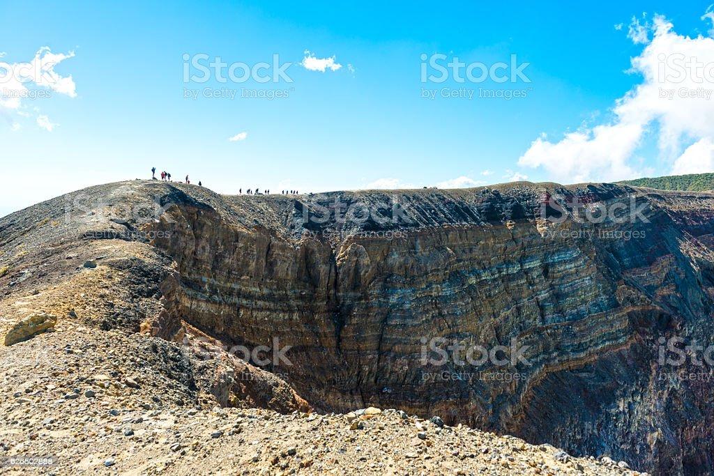 Crater Volcan Santa Ana, Cerro Verde National Park, El Salvador stock photo