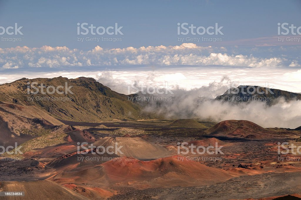Craters at the top of Haleakala Volcano, Maui royalty-free stock photo