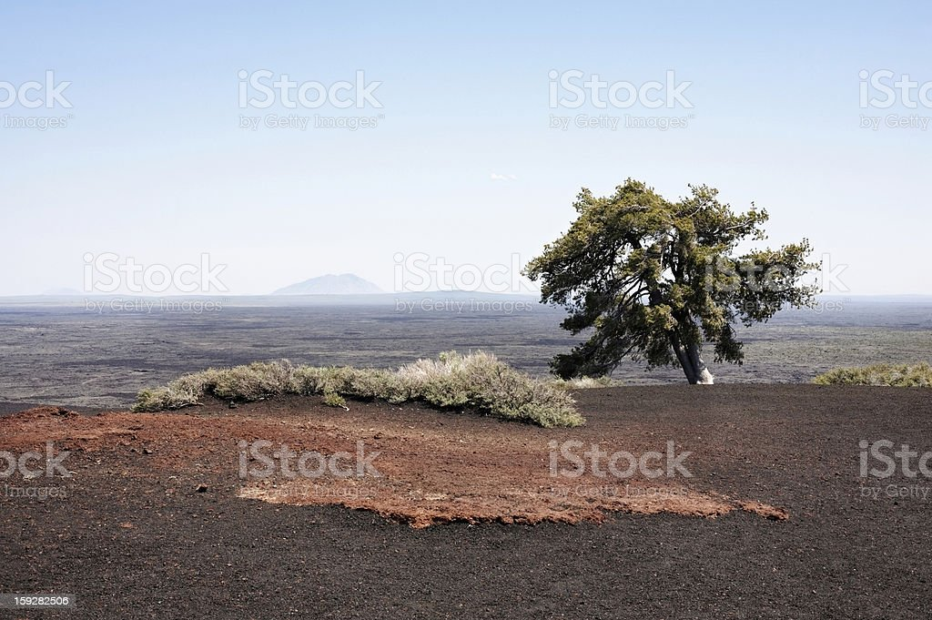 Craters of the Moon, a Western United States Landscape royalty-free stock photo
