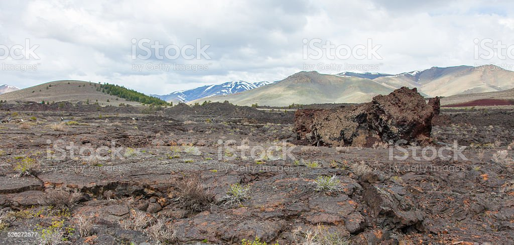 Craters of the Moon National Monument and Preserve stock photo