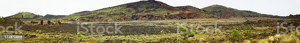 Craters of the Moon National Monument Panoramic royalty-free stock photo