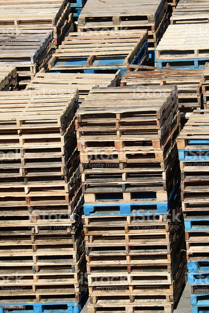 Crates Palettes - Portrait stock photo