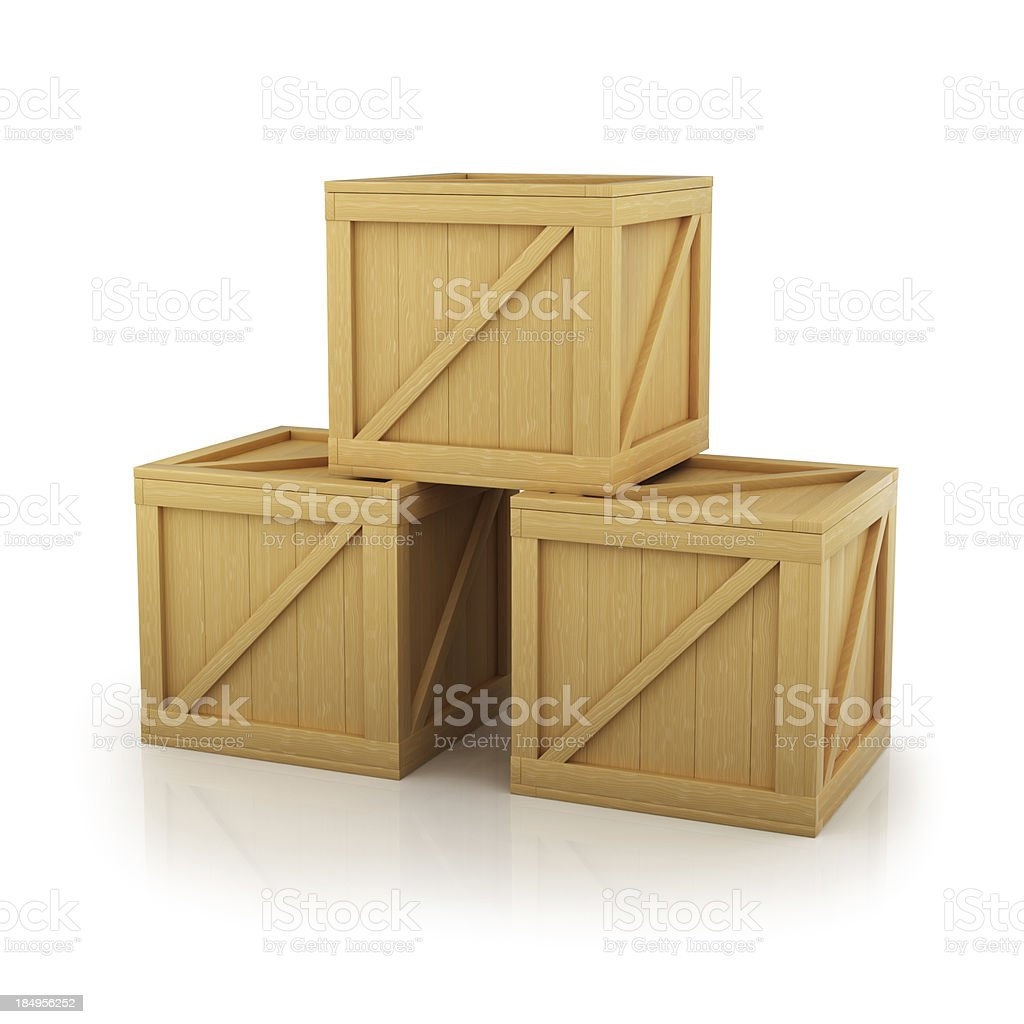 Crates royalty-free stock photo