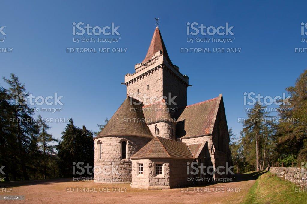 Crathie Church, Braemar, Aberdeenshire, Scotland stock photo
