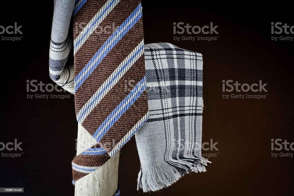 cravat and scarf for man stock photo