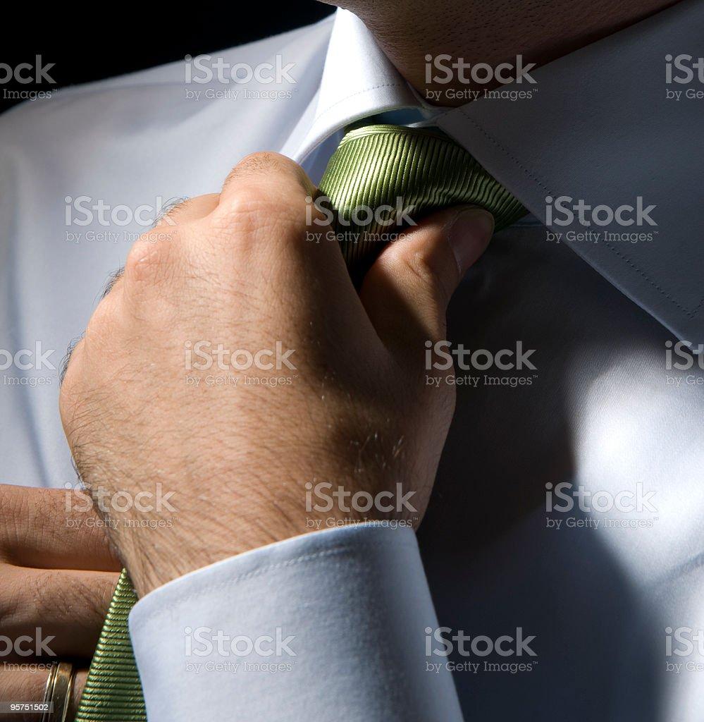 Cravat Knot royalty-free stock photo