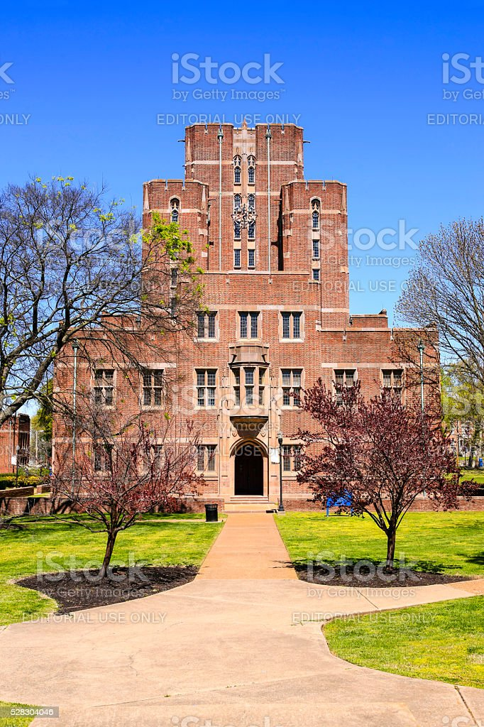 Cravath Hall building on Fisk University campus in Nashville TN stock photo