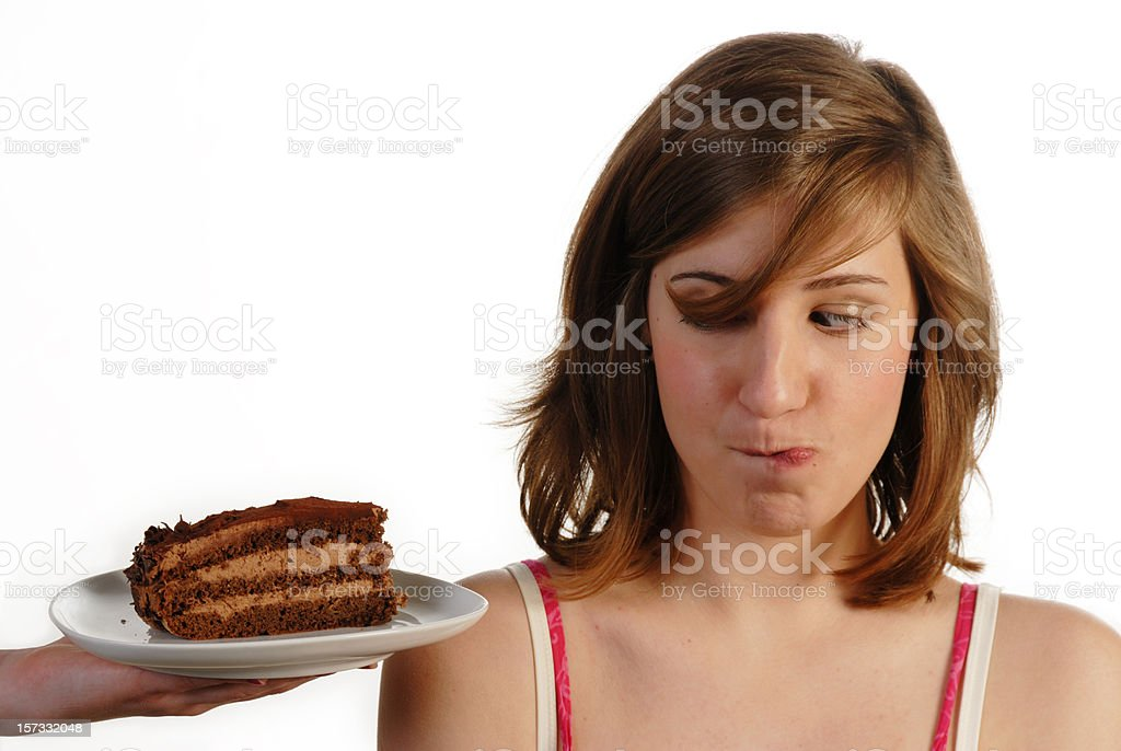 craving for chocolate cake royalty-free stock photo