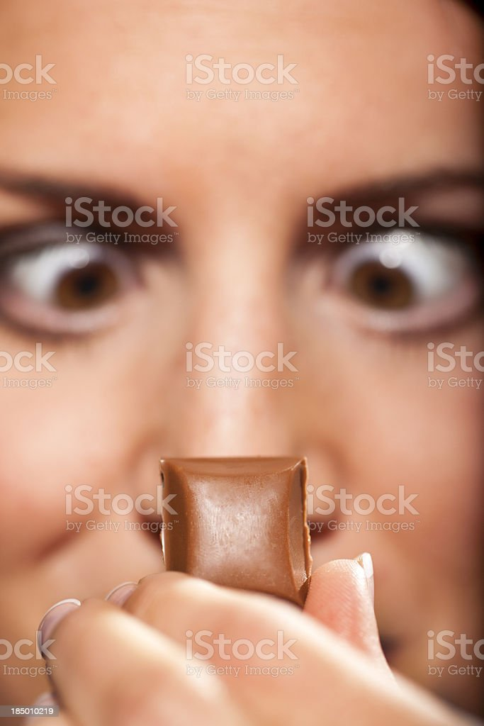 Craving for chocolate royalty-free stock photo