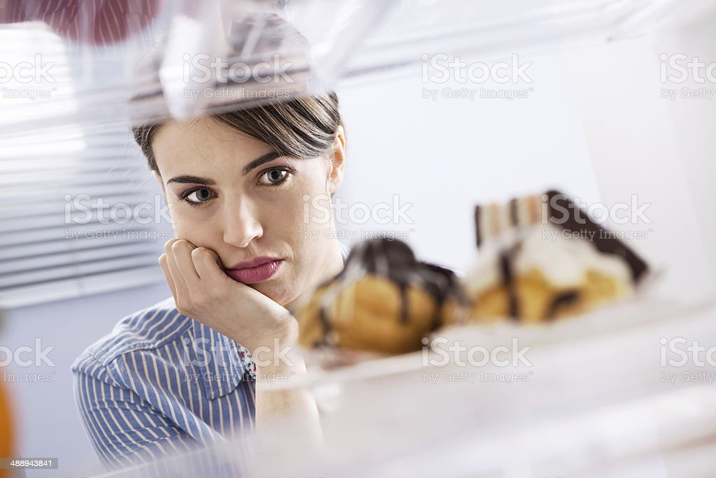Craving sweet food stock photo