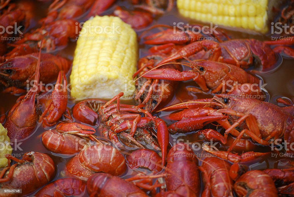 Crawfish Boil Cookout royalty-free stock photo