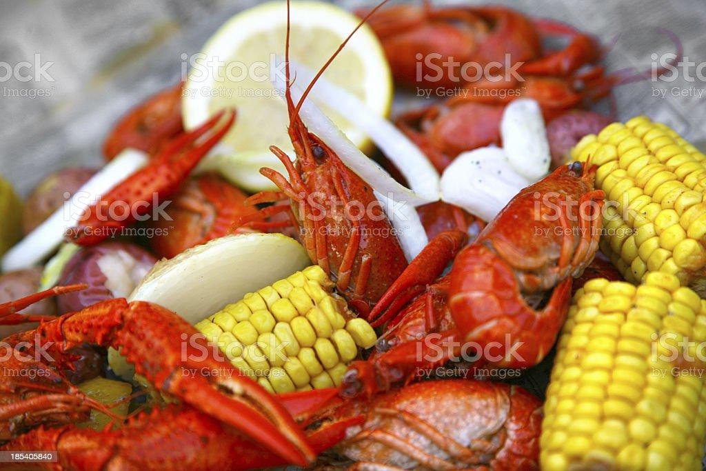 Crawfish boil stock photo