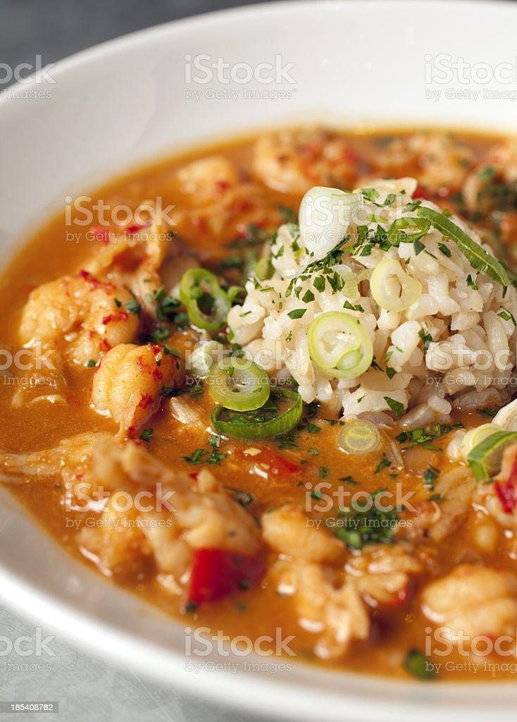 crawfish etouffee stock photo