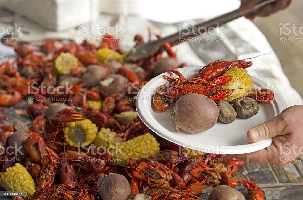 Crawfish Feed stock photo