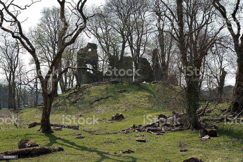 Crawford Castle stock photo
