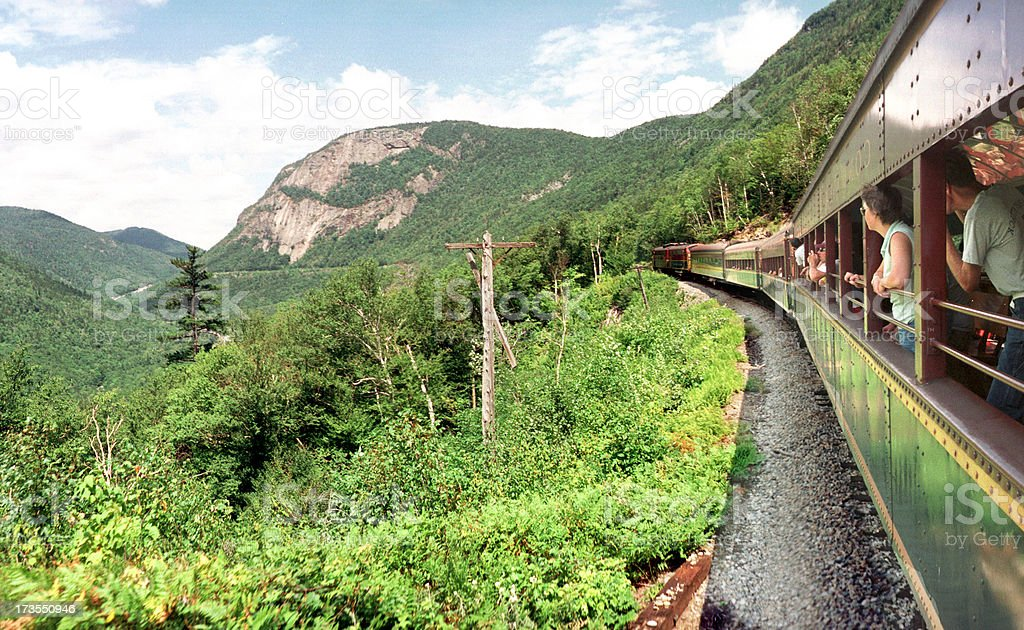 Crawford Notch train, NH royalty-free stock photo