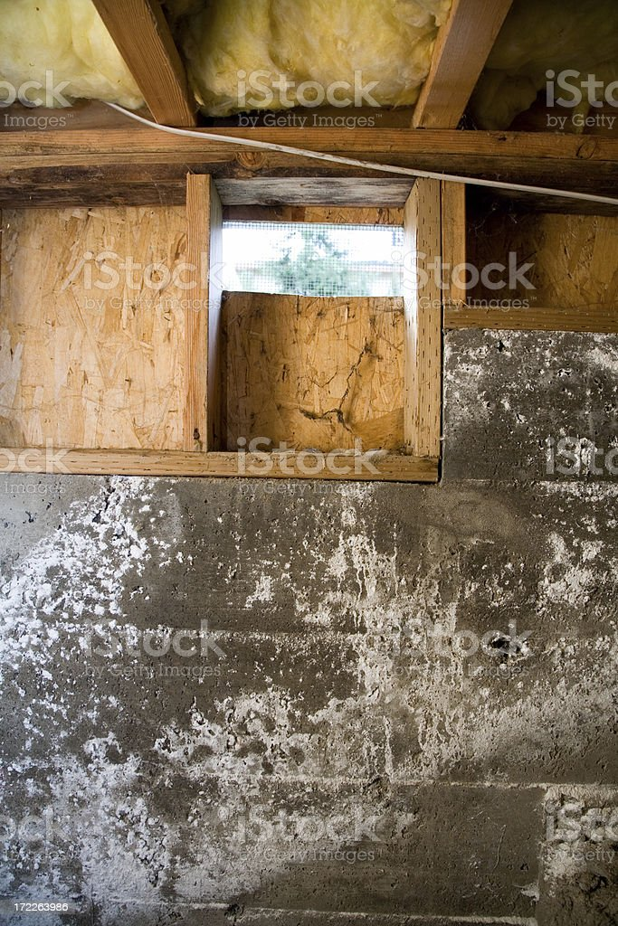 Crawl Space Closer royalty-free stock photo