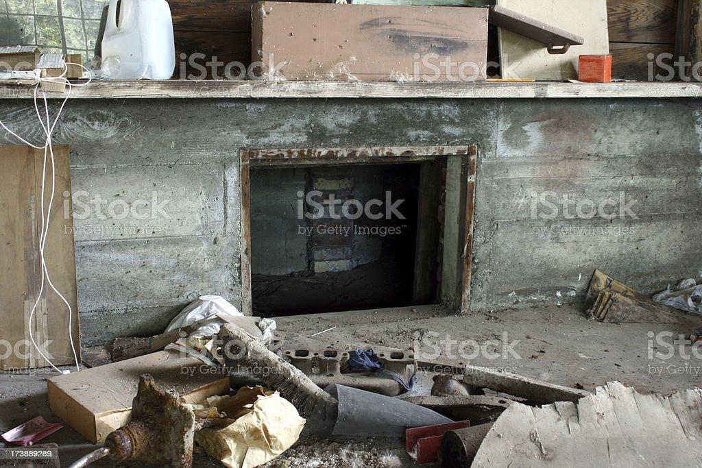Crawl space stock photo