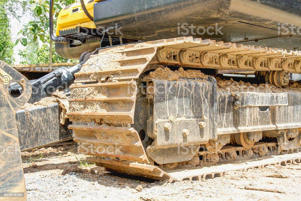 Crawler Bulldozer stock photo