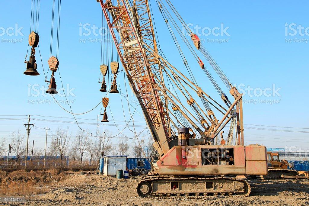 crawler crane stock photo