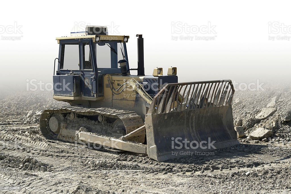 crawler in a stone pit royalty-free stock photo