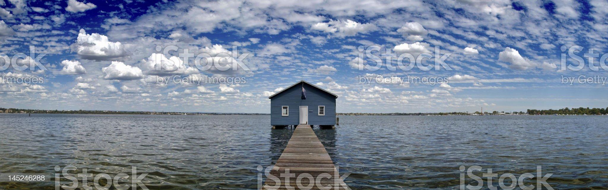 Crawley Edge (Matilda Bay) Boatshed, Perth, Western Australia royalty-free stock photo