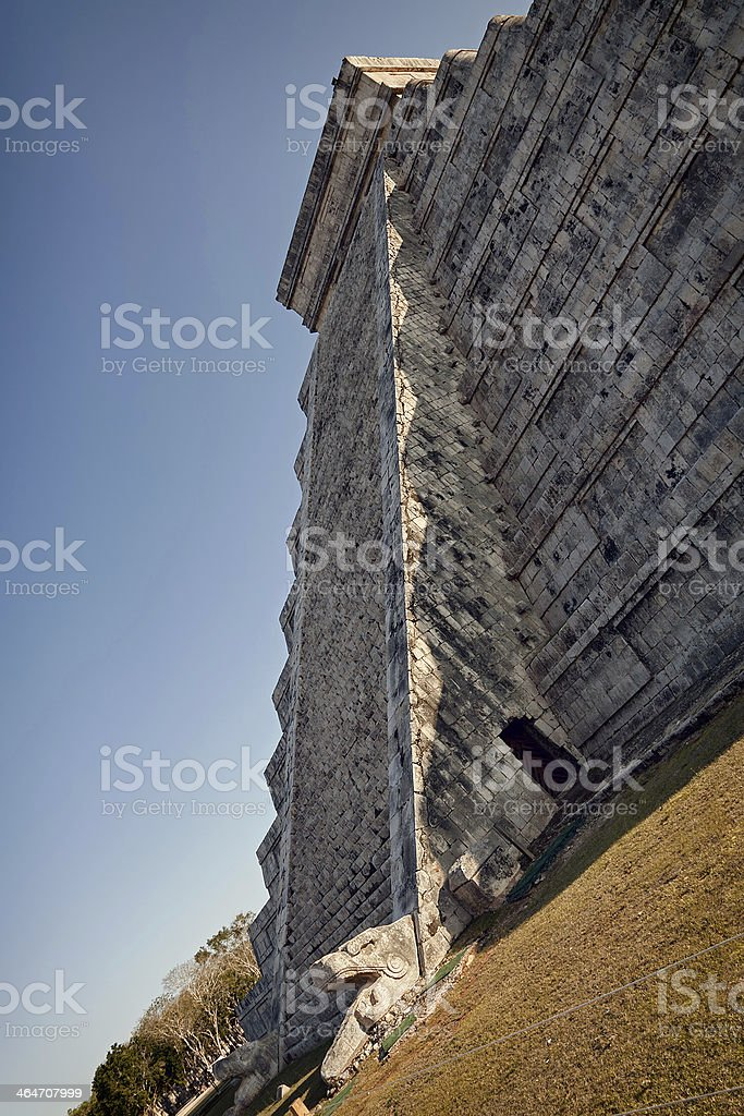 Crawling Snake in Spring Equinox at Chichen Itza Kukulcan Temple stock photo