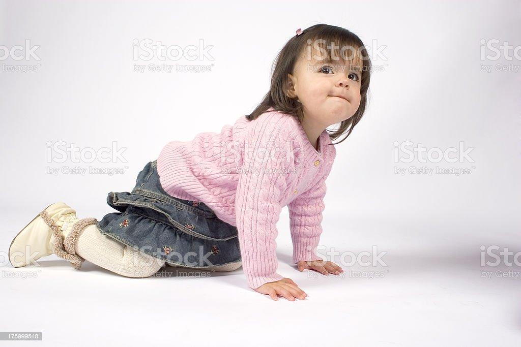 Crawling Toddler stock photo