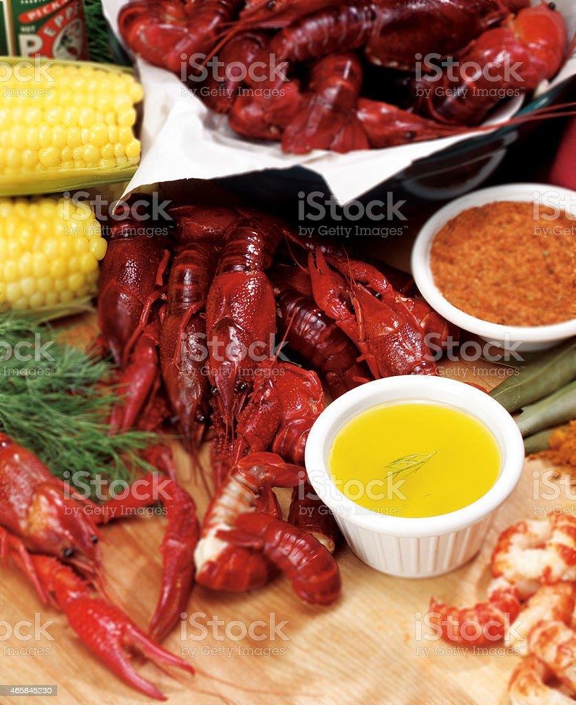 Crayfish Dinner stock photo