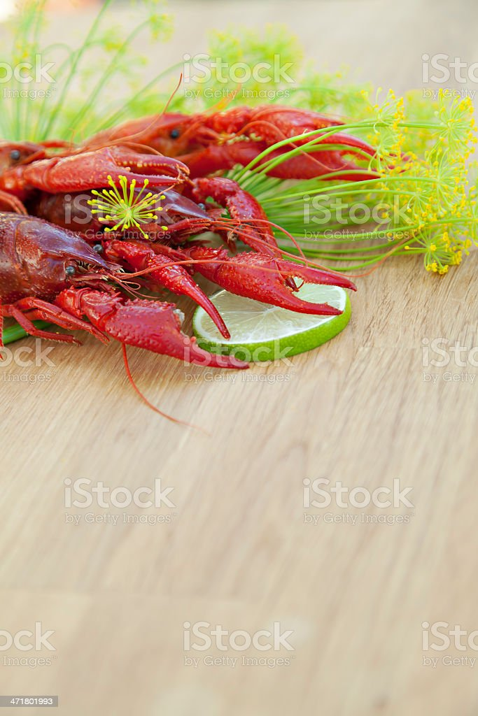 Crayfish serving royalty-free stock photo