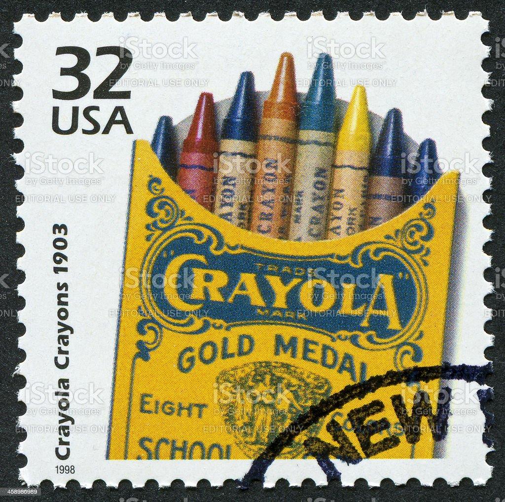 Crayola Crayons Stamp royalty-free stock photo