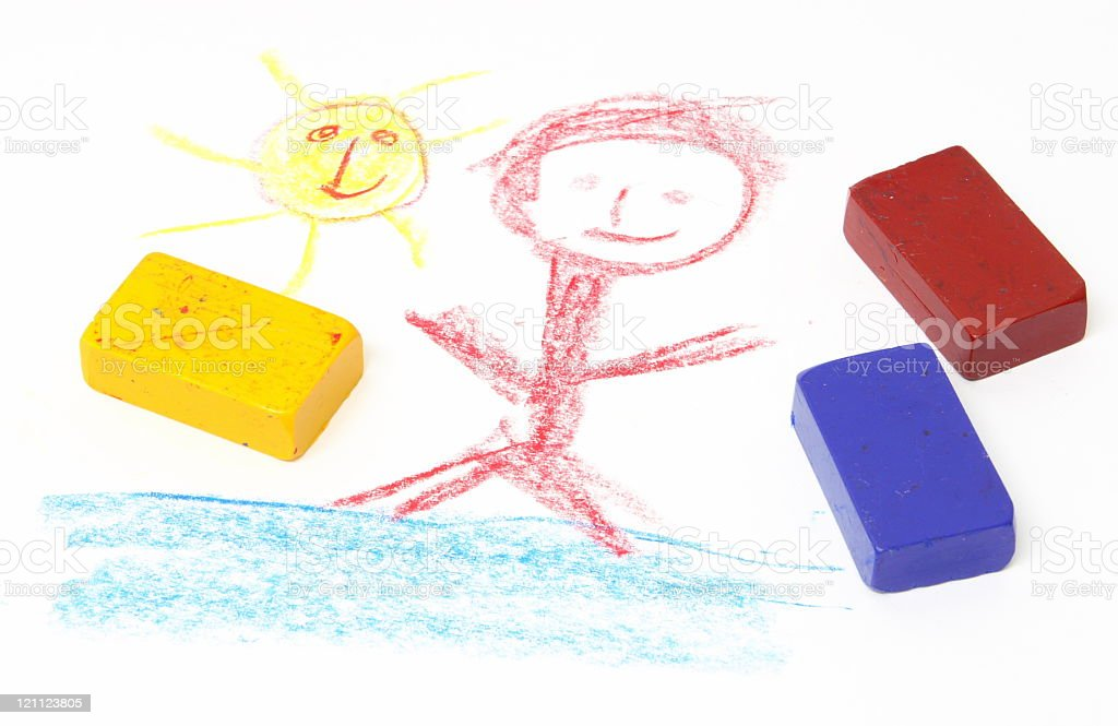 Crayon drawing royalty-free stock photo