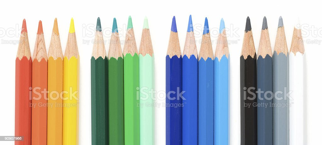 Crayons over White royalty-free stock photo