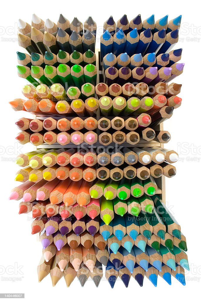 Crayons (Top View) royalty-free stock photo