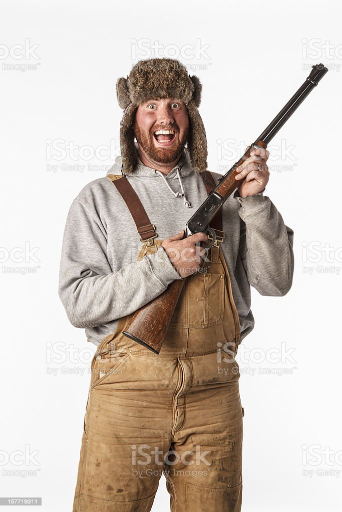 Crazed Hunter stock photo