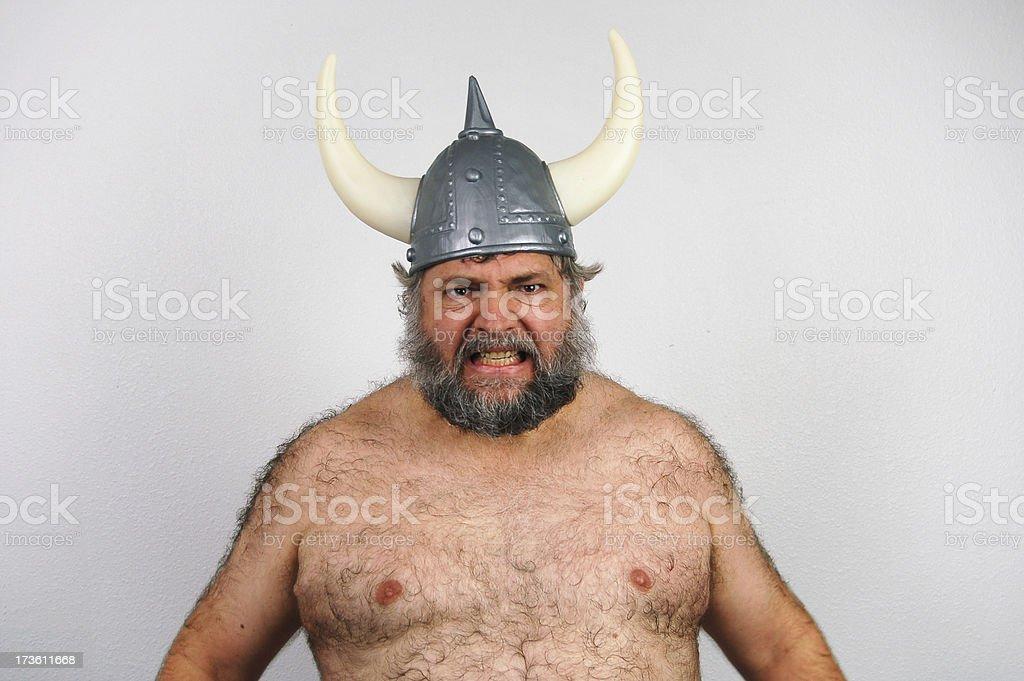 Crazed Viking royalty-free stock photo