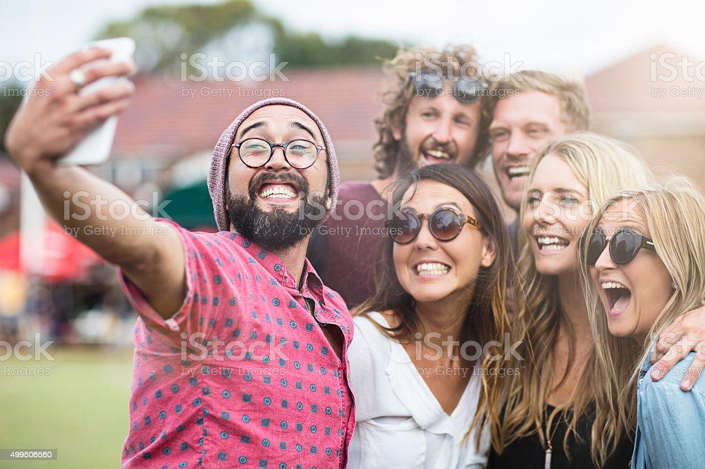 Craziness with Selfies ! stock photo