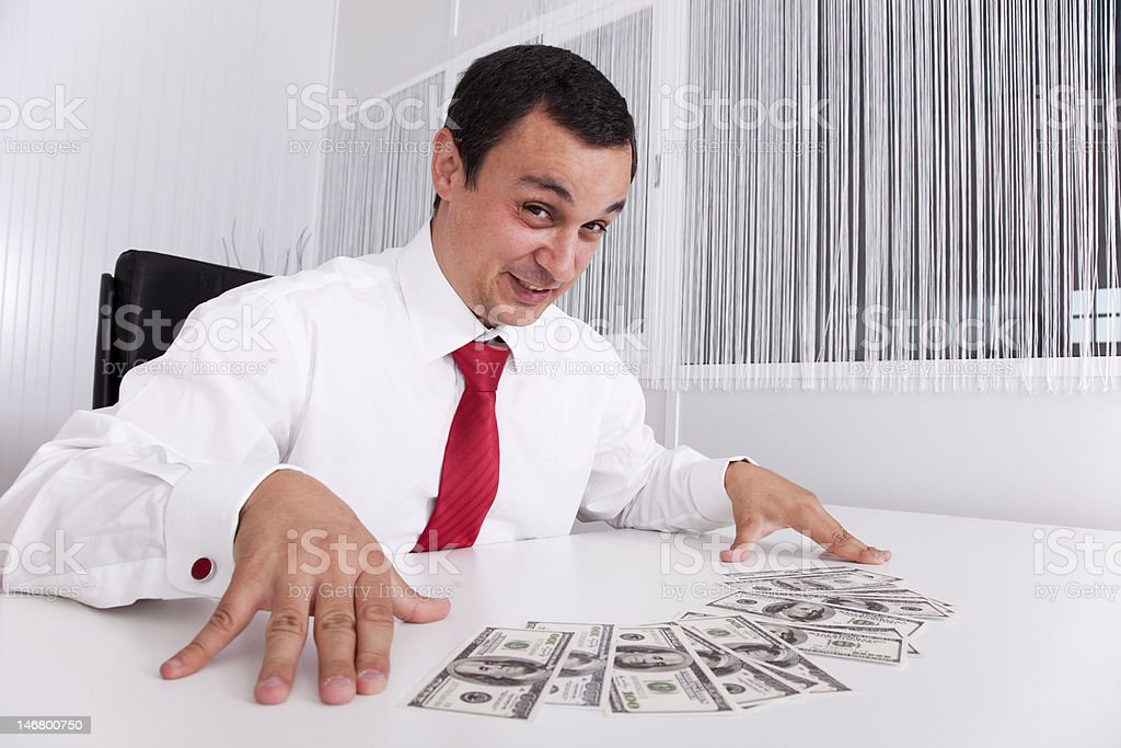 Crazy about money royalty-free stock photo