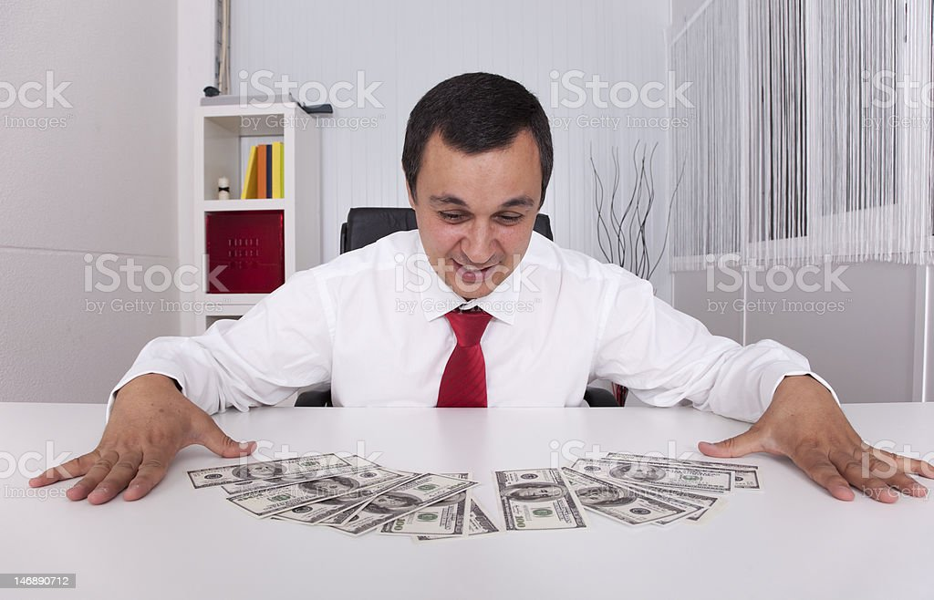 Crazy about money stock photo
