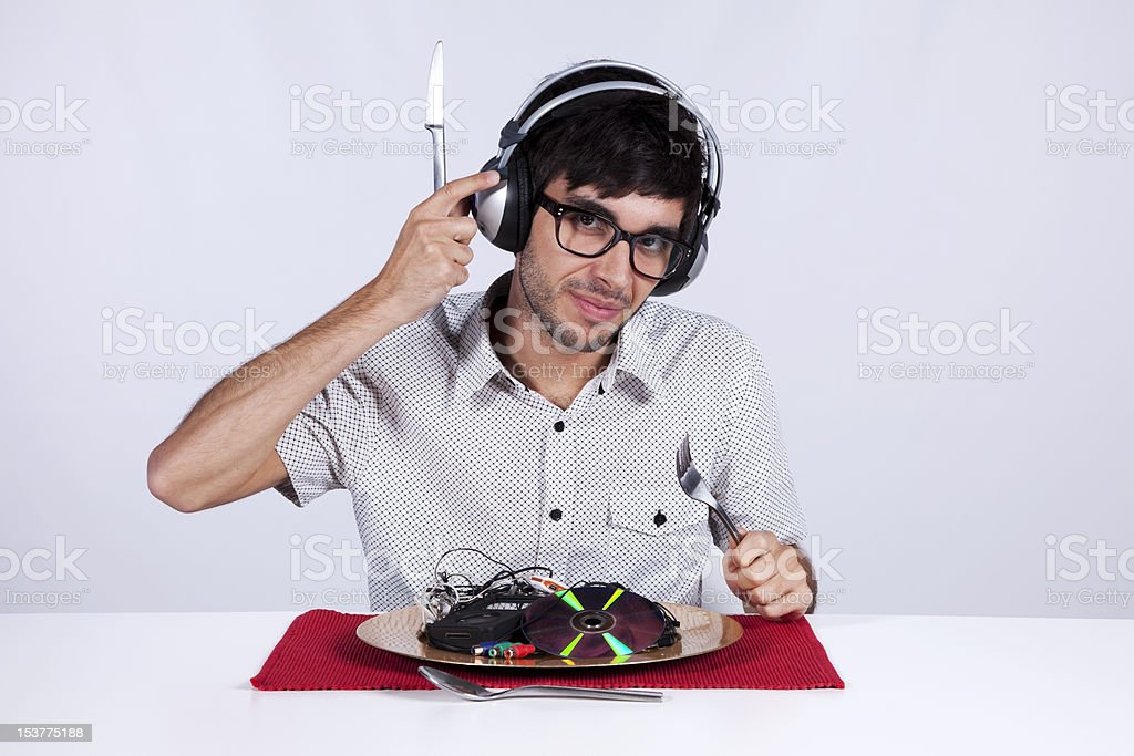 Crazy about music royalty-free stock photo