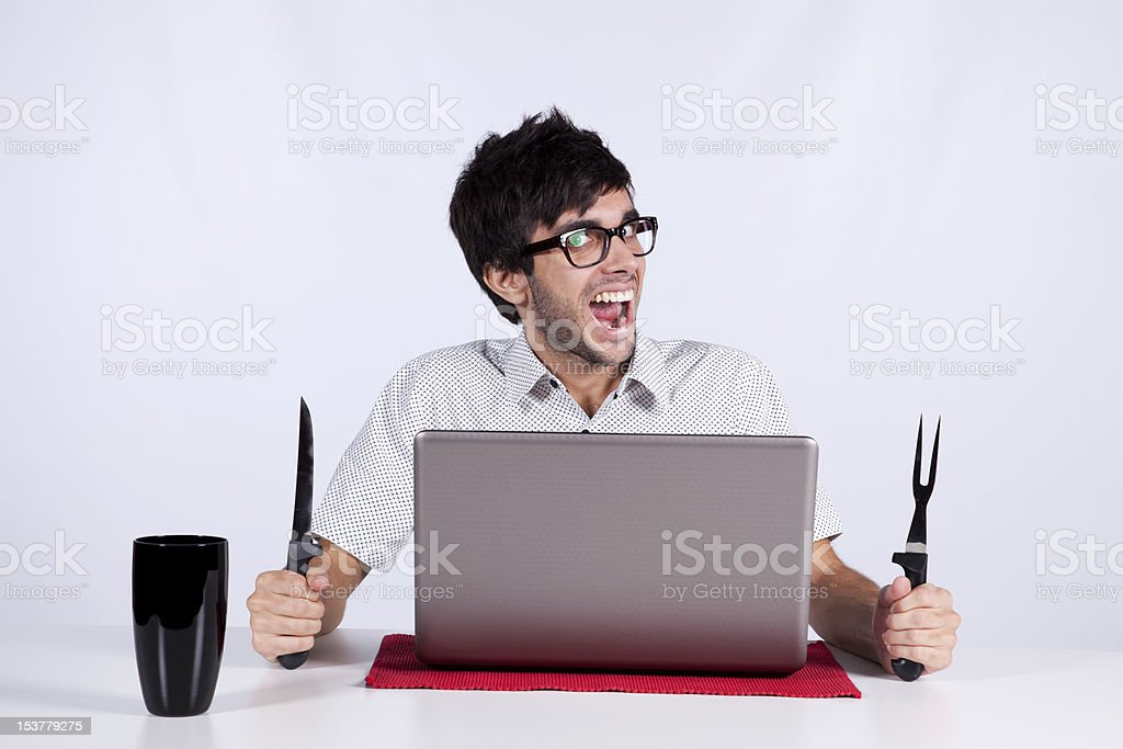Crazy about technology royalty-free stock photo