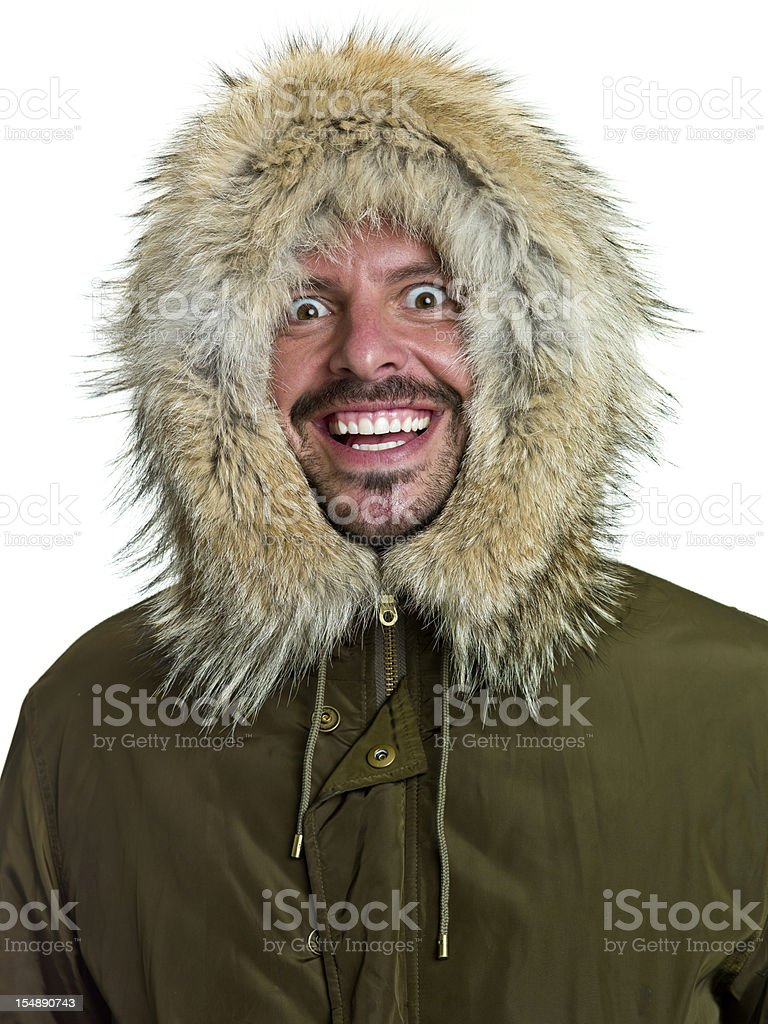 crazy arctic explorer stock photo