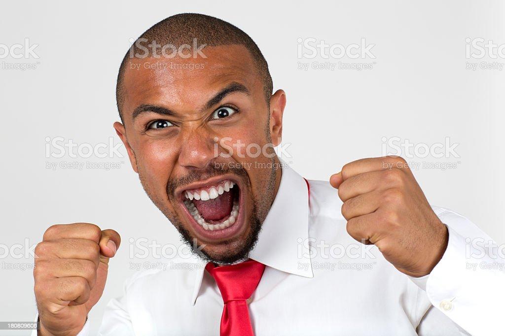 Crazy black man royalty-free stock photo