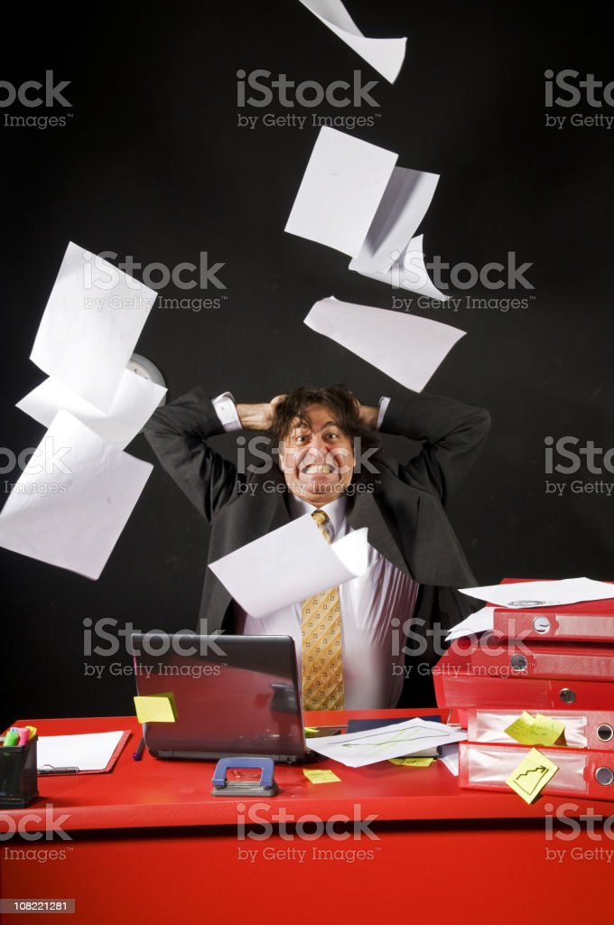 crazy businessman royalty-free stock photo