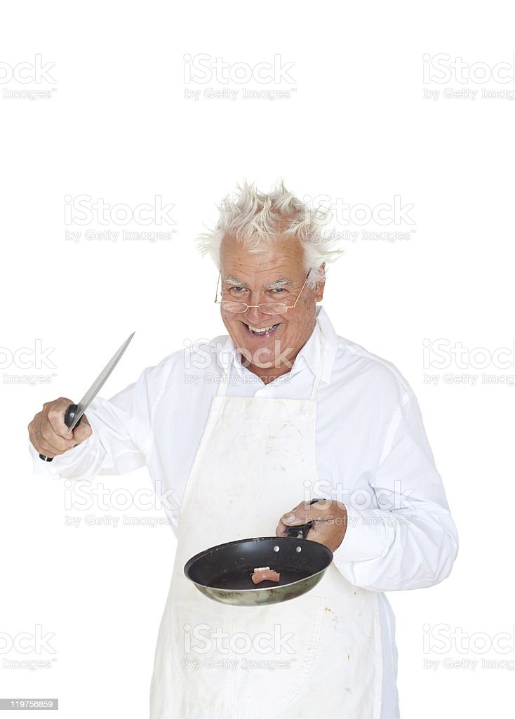 Crazy chef--I can cook everything... royalty-free stock photo
