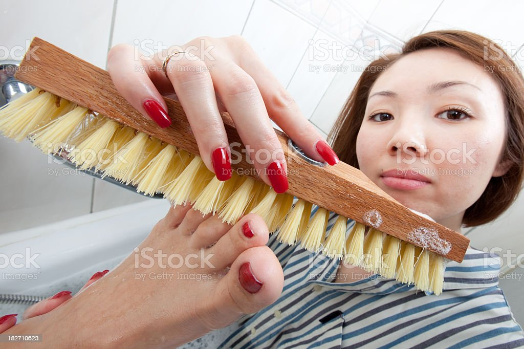 Crazy Cleaners - Computer and Body royalty-free stock photo