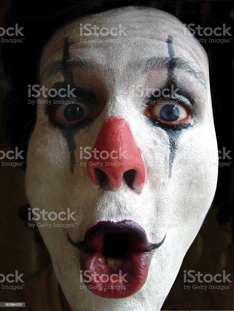 Crazy Clown 3 royalty-free stock photo