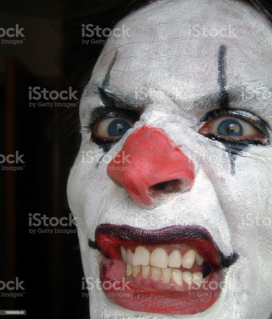 Crazy Clown royalty-free stock photo